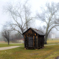 Shack in Fog